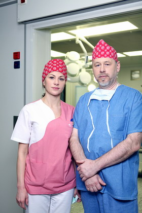 Хирурги Мазикина Л.Н. и профессор Феденко В.В.